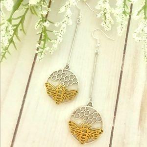 Jewelry - Honeycomb Bee Earrings